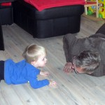 Gymnastik mit Opa